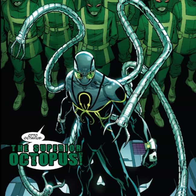 Doctor Octopus is listed (or ranked) 3 on the list 23 Terrifying Villains Who Haven't Shown Up In The MCU, But Could