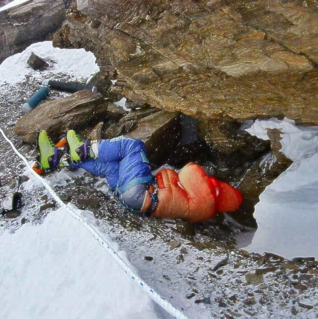 The Most Famous Corpse On Ever... is listed (or ranked) 1 on the list 12 Disturbing Stories Of Dead Bodies Left To Decompose On Top Of Mount Everest