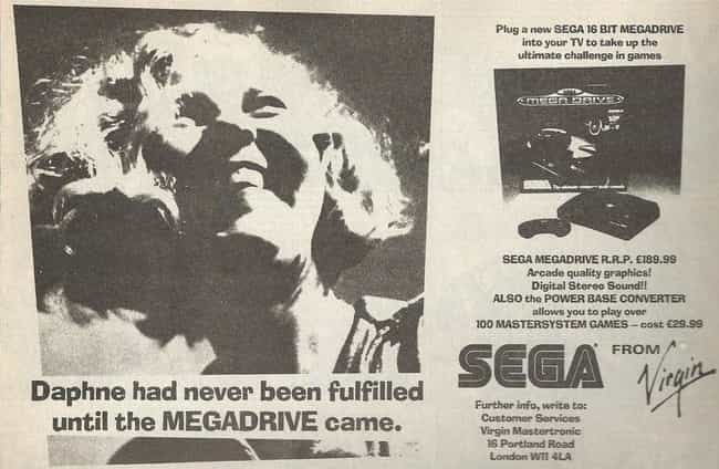 Let Sega Satisfy You is listed (or ranked) 2 on the list Weirdly Dirty Sega Ads You Won't Believe Actually Ran In The '90s
