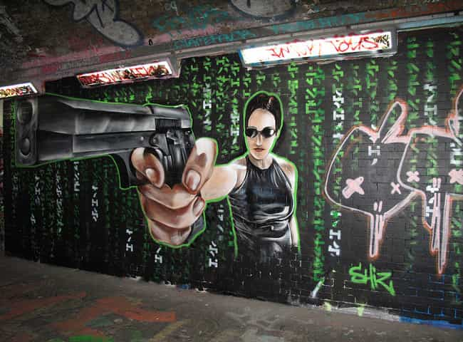 The Holy Trinity is listed (or ranked) 4 on the list Amazing Acts Of Movie Graffiti