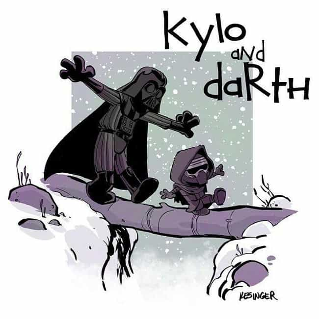Kylo And Darth is listed (or ranked) 4 on the list 21 Calvin And Hobbes Comics Reimagined With Different Characters