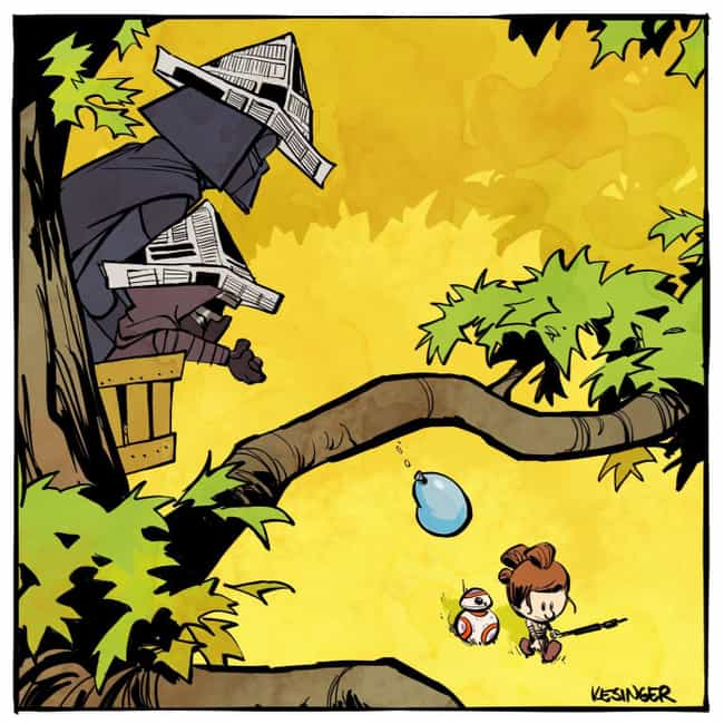 Vader And Kylo Ren is listed (or ranked) 1 on the list 21 Calvin And Hobbes Comics Reimagined With Different Characters