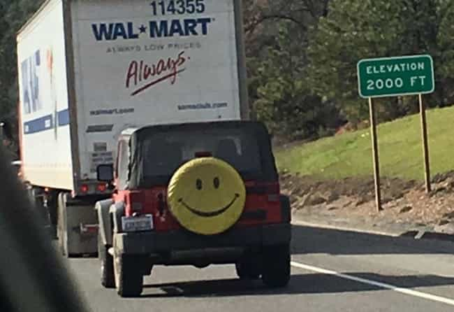 What Are The Odds? is listed (or ranked) 3 on the list 25 Hilarious Tire Covers Spotted On The Open Road