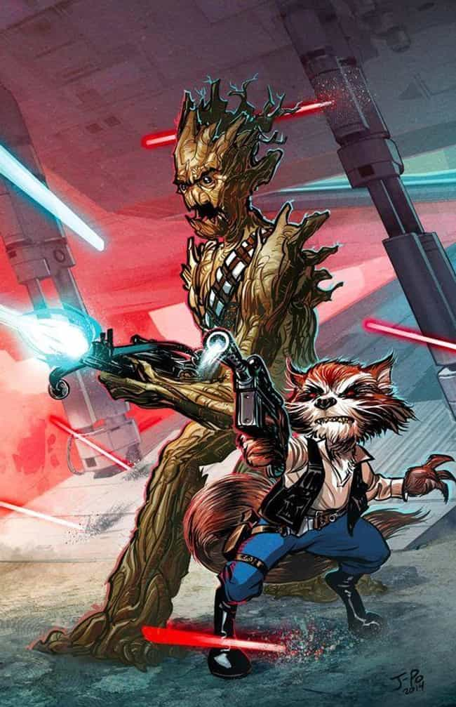 Han And Chewie is listed (or ranked) 4 on the list 20 Perfect Reinterpretations Of Rocket And Groot