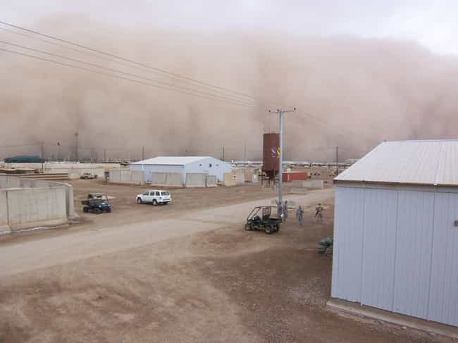 What's A Haboob? is listed (or ranked) 1 on the list Dread-Inducing Pictures Of Haboob Sandstorms Coming Right At You