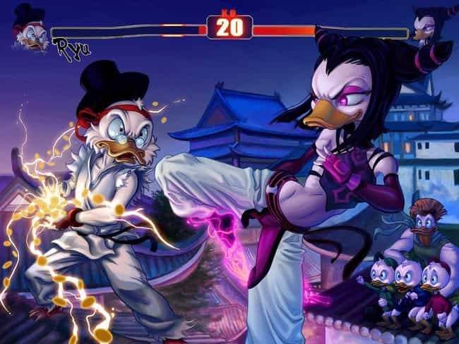 DuckTales + Street Fight... is listed (or ranked) 3 on the list 20 Insane DuckTales Fan Art Recreations Even Scrooge Would Appreciate