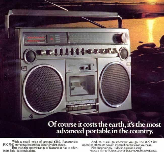Panasonic RX 5500 Stereo: $576... is listed (or ranked) 4 on the list 20 Hilarious Ads For Obsolete Technology That Used To Be Insanely Expensive