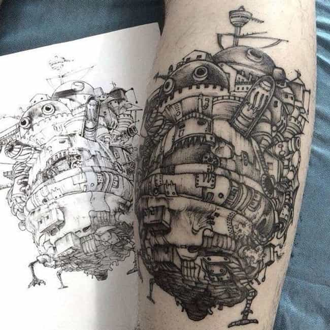 'Howl's Moving Castle&... is listed (or ranked) 4 on the list If You're Not Spirited Away By These Studio Ghibli Tattoos, We Can't Be Friends