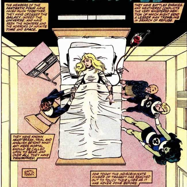 The Invisible Woman's Miscarri... is listed (or ranked) 4 on the list The Most Emotional Moments In Marvel Comics History