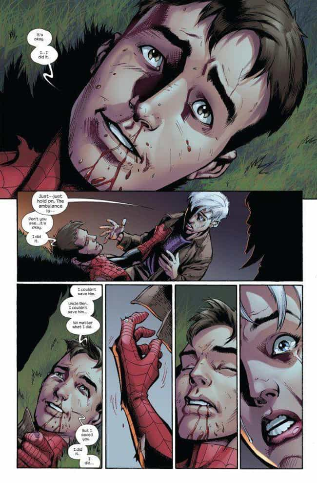 Ultimate Peter Parker's ... is listed (or ranked) 1 on the list The Most Emotional Moments In Marvel Comics History