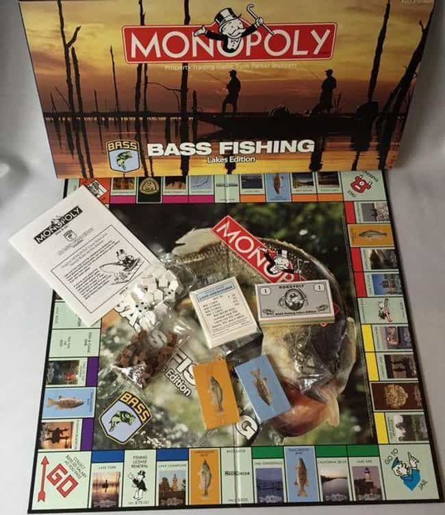 Monopoly: Bass Fishing E... is listed (or ranked) 3 on the list The 15 Most Unnecessary Versions Of Monopoly In Human History