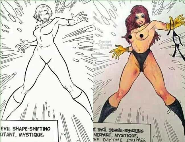 Mystique Moonlights At T... is listed (or ranked) 1 on the list 16 Very Dirty Comic Book Corruptions