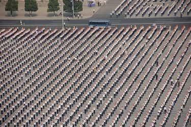 Orderly Lines In Kim Il-sung Square