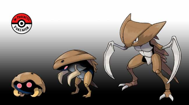 Kabuto - Kabutops is listed (or ranked) 2 on the list This Artist Creates The Missing Links Between Pokemon Evolutions