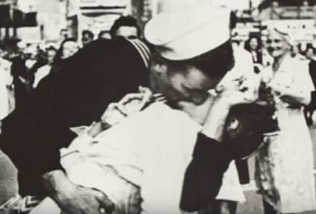 The Times Square Kiss At The E... is listed (or ranked) 1 on the list The Real Stories Behind The Most Famous Military Pictures Of All Time