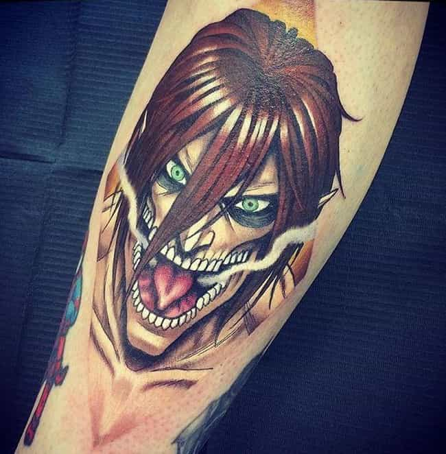 Eren Titan In Full Force... is listed (or ranked) 3 on the list Absolutely Terrific Attack On Titan Tattoos