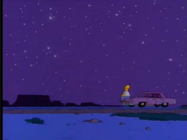 "Homer Watches The Stars - ""... is listed (or ranked) 3 on the list 11 Emotional Episodes Of The Simpsons That Made You Cry"