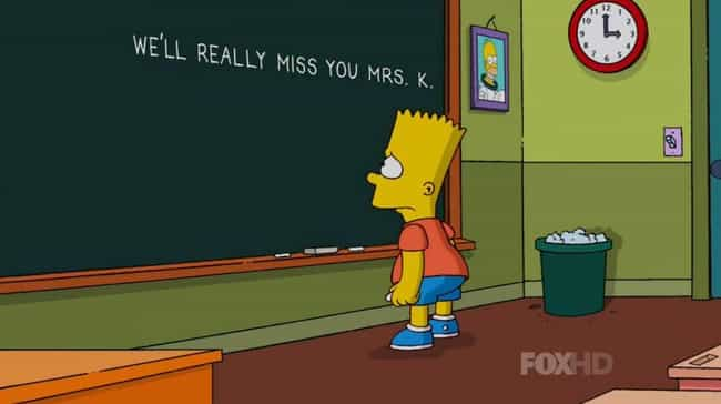 We'll Really Miss You, Mrs... is listed (or ranked) 2 on the list 11 Emotional Episodes Of The Simpsons That Made You Cry