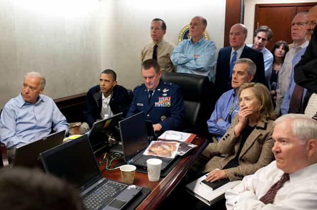 The Situation Room During The ... is listed (or ranked) 4 on the list The Real Stories Behind The Most Famous Military Pictures Of All Time