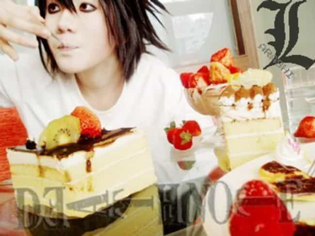 L Indulges On Sweets is listed (or ranked) 3 on the list 24 Death Note Cosplays That Netflix Should Take Notes From