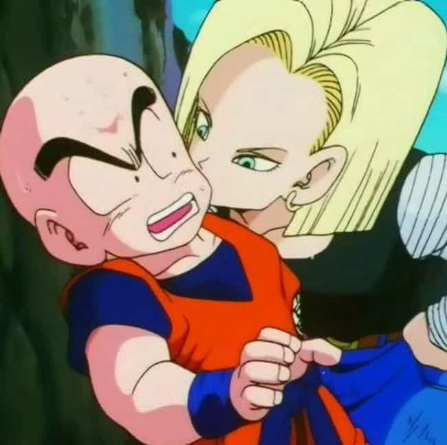 He Marries The Coolest Lady In... is listed (or ranked) 3 on the list 18 Reasons Krillin Is The MVP Of Dragon Ball Z