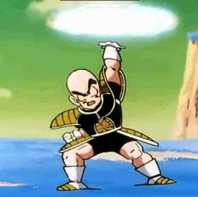 He Rescues Gohan From Fr... is listed (or ranked) 4 on the list 18 Reasons Krillin Is The MVP Of Dragon Ball Z