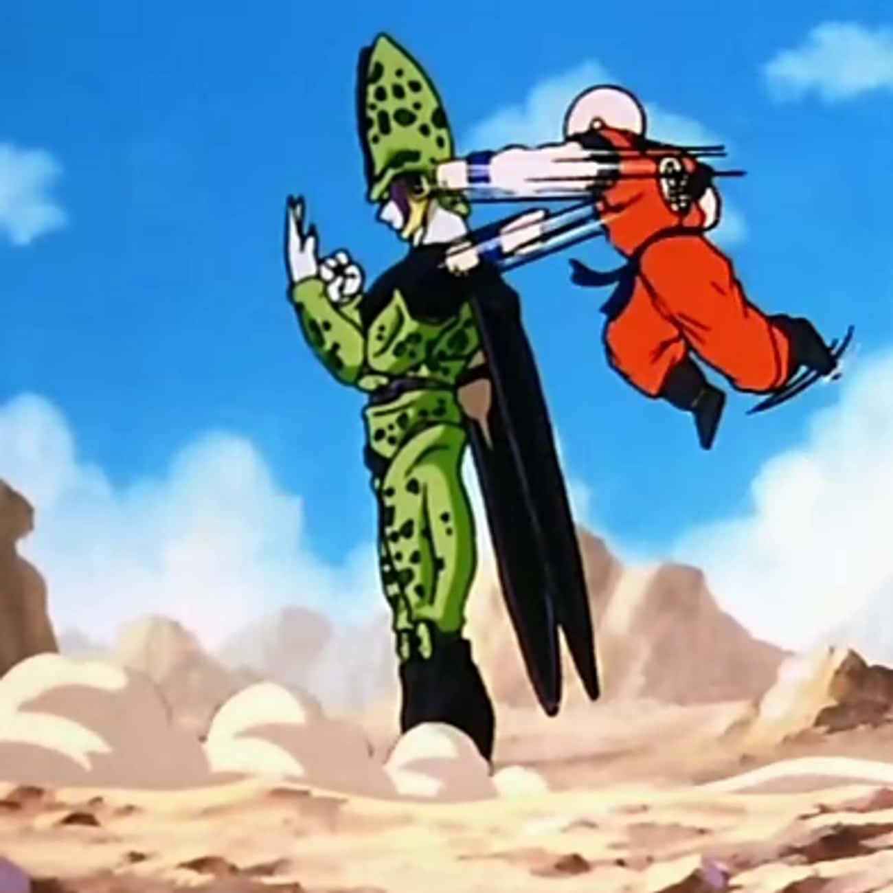 He Often Fights Way Above His  is listed (or ranked) 1 on the list 18 Reasons Krillin Is The MVP Of Dragon Ball Z