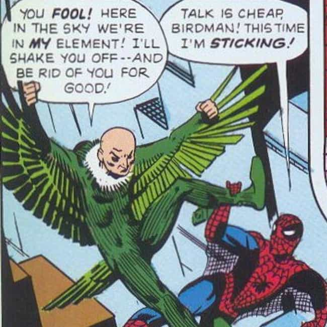 The Vulture Was The Second Sup... is listed (or ranked) 1 on the list Everything To Know About The Villains From Spider-Man: Homecoming