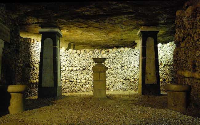 The Light Doesn't Make T... is listed (or ranked) 2 on the list 21 Haunting Photographs of The Catacombs of Paris
