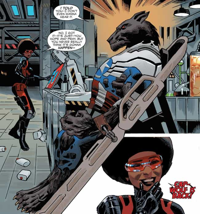 Captain America (Sam Wil... is listed (or ranked) 4 on the list 10 Comic Book Characters Who Have Turned Into Werewolves