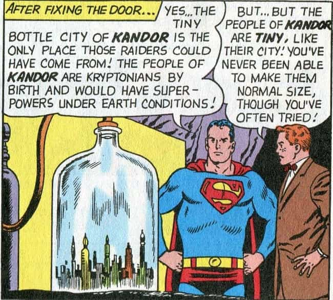 The Bottled City Of Kandor is listed (or ranked) 1 on the list All The Most Insane Things In Superman's Fortress Of Solitude