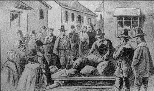 The Ghost Of Giles Corey... is listed (or ranked) 1 on the list 14 Terrifying Ghost Stories From Salem, Massachusetts