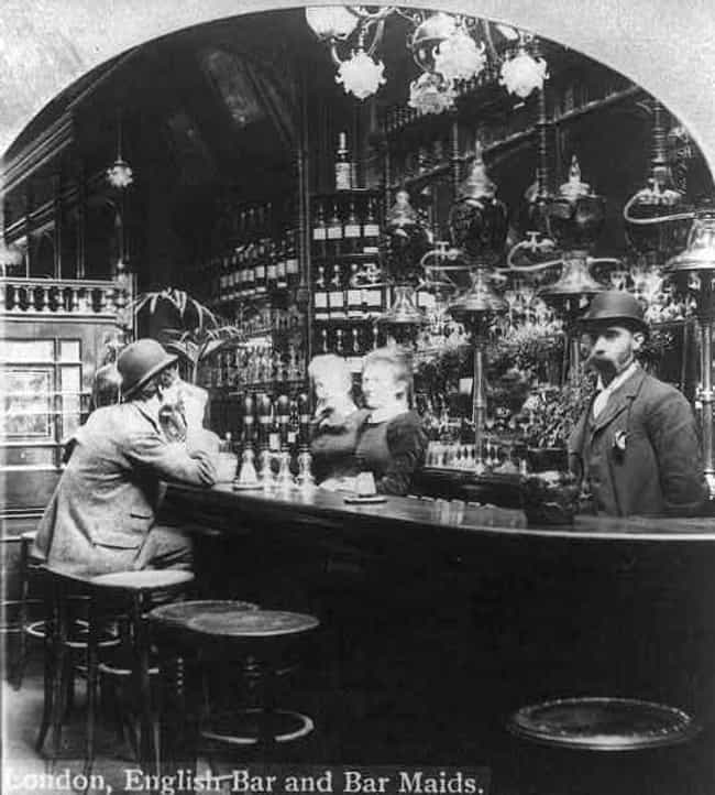 Bar, London, England, 1893 is listed (or ranked) 3 on the list 24 Stunning Photos of Historical Bars From The Early 1900s