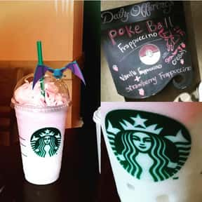 Poke Ball Frappuccino is listed (or ranked) 18 on the list Starbucks Secret Menu Items