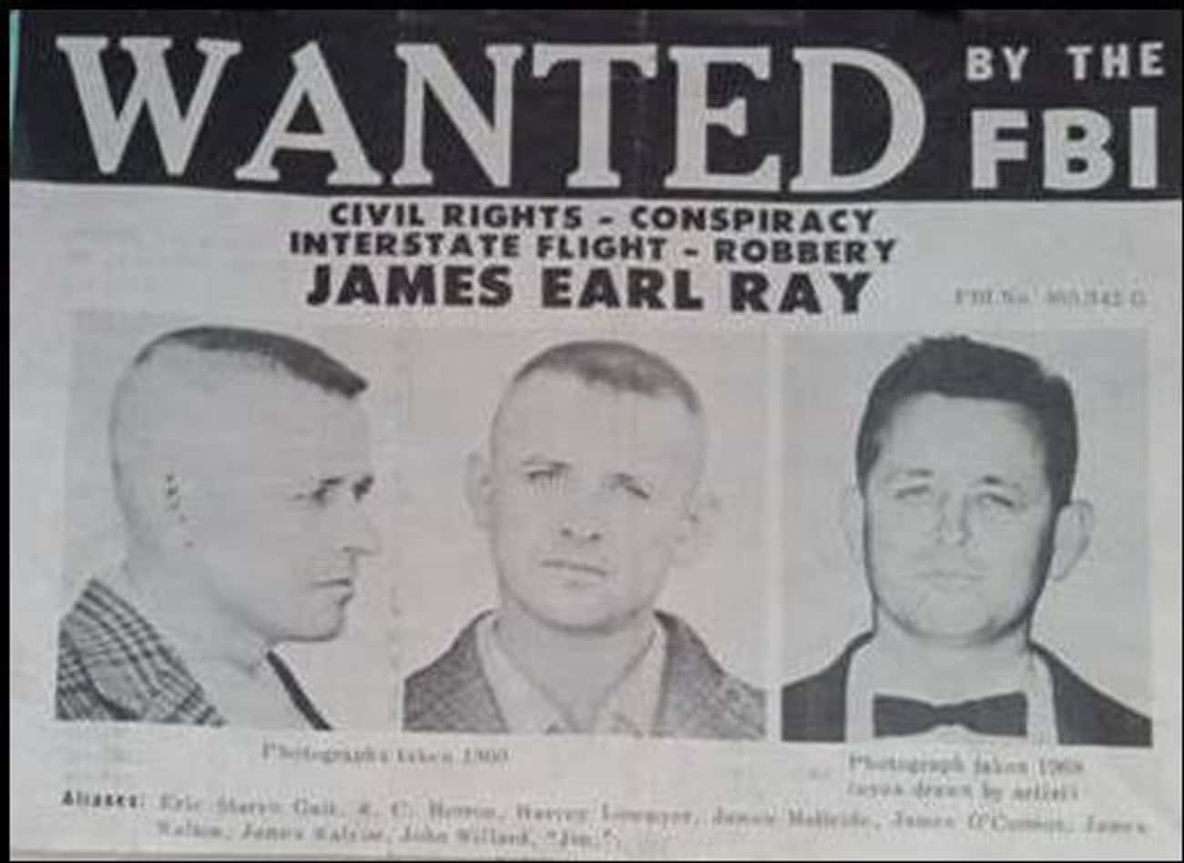 James Earl Ray Fled The Countr is listed (or ranked) 2 on the list 14 Events That Happened Immediately After Martin Luther King Jr.'s Assassination