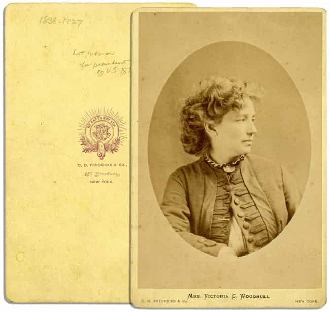 She Started The First Wo... is listed (or ranked) 3 on the list 14 Facts About Victoria Woodhull, The First Woman To Ever Run For President