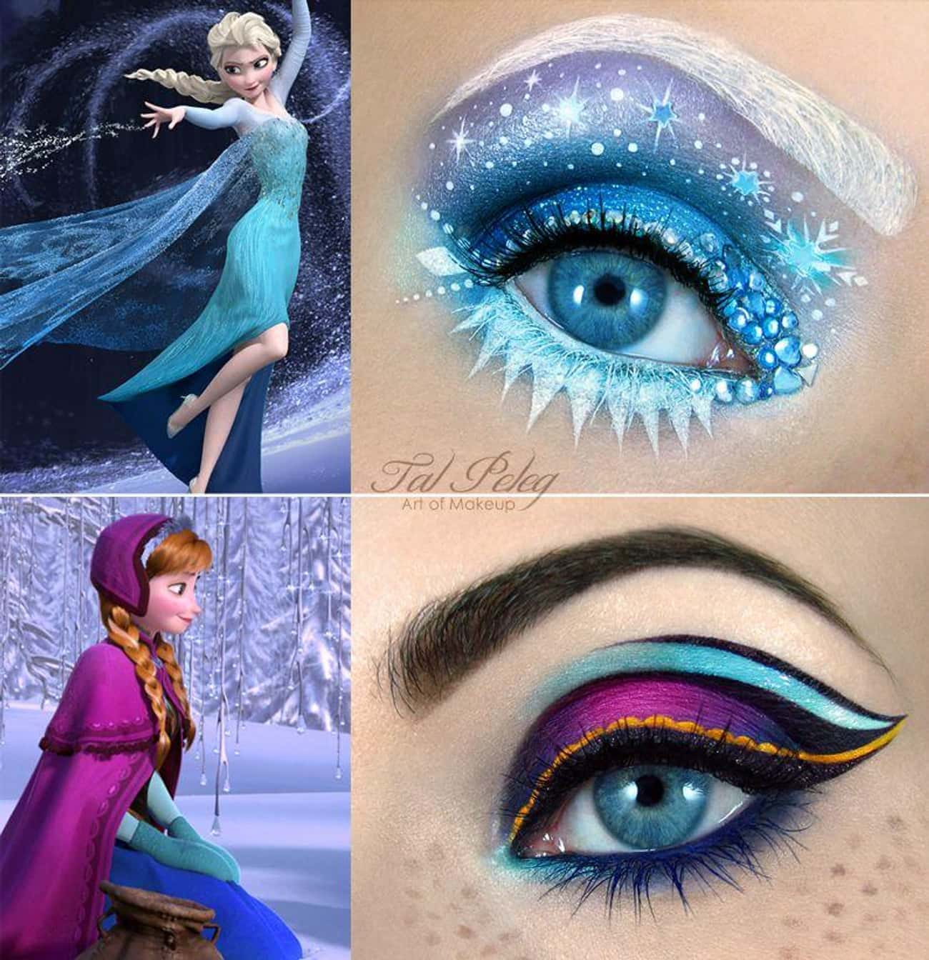 Anna And Elsa From Frozen is listed (or ranked) 2 on the list Disney Makeup That's Beyond Magical