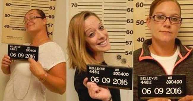 These First Two Girls Ab... is listed (or ranked) 3 on the list 26 People Who Are Smiling A Little Too Hard For Their Mugshots