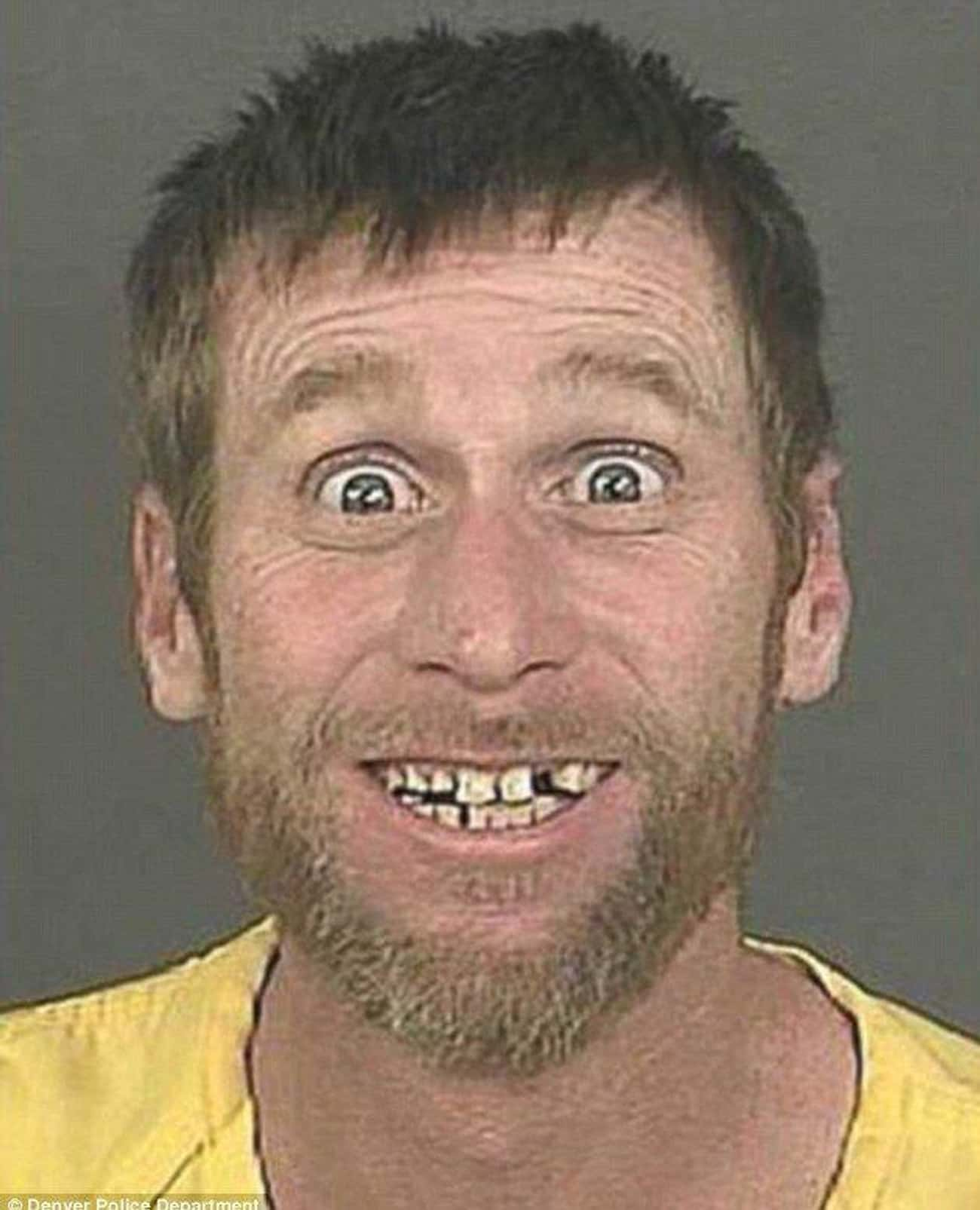 Charged With Perpetuating Ever is listed (or ranked) 2 on the list 26 People Who Are Smiling A Little Too Hard For Their Mugshots