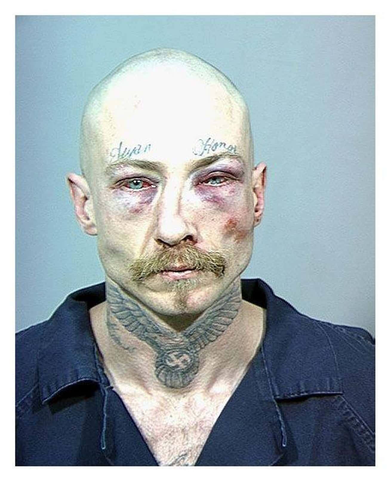 Being Terrifying: Nailed It. is listed (or ranked) 4 on the list Scary Mugshots Of People You Wouldn't Want To Share A Cell With
