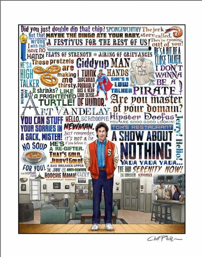 A Show About Nothing is listed (or ranked) 7 on the list 30 Incredible Seinfeld Fan Art Masterpieces