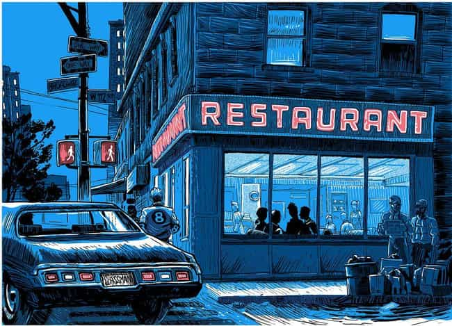 Monk's Cafe is listed (or ranked) 2 on the list 30 Incredible Seinfeld Fan Art Masterpieces