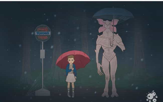 My Neighbor Demogorgon ... is listed (or ranked) 4 on the list 28 Brilliant Stranger Things Mashup Art Masterpieces
