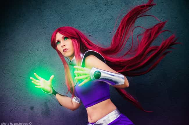 Starfire is listed (or ranked) 3 on the list 26 Teen Titans Cosplays That Will Give You All The Nostalgia Feels