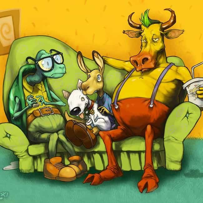 Realistic Rocko is listed (or ranked) 4 on the list Amazing '90s Nickelodeon Fan Art For Those Who Loved Nicktoons