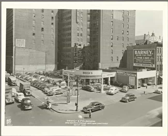 Barney's Gas, New York, ... is listed (or ranked) 2 on the list 27 Pictures of Vintage Gas Stations That Are Oddly Nostalgic