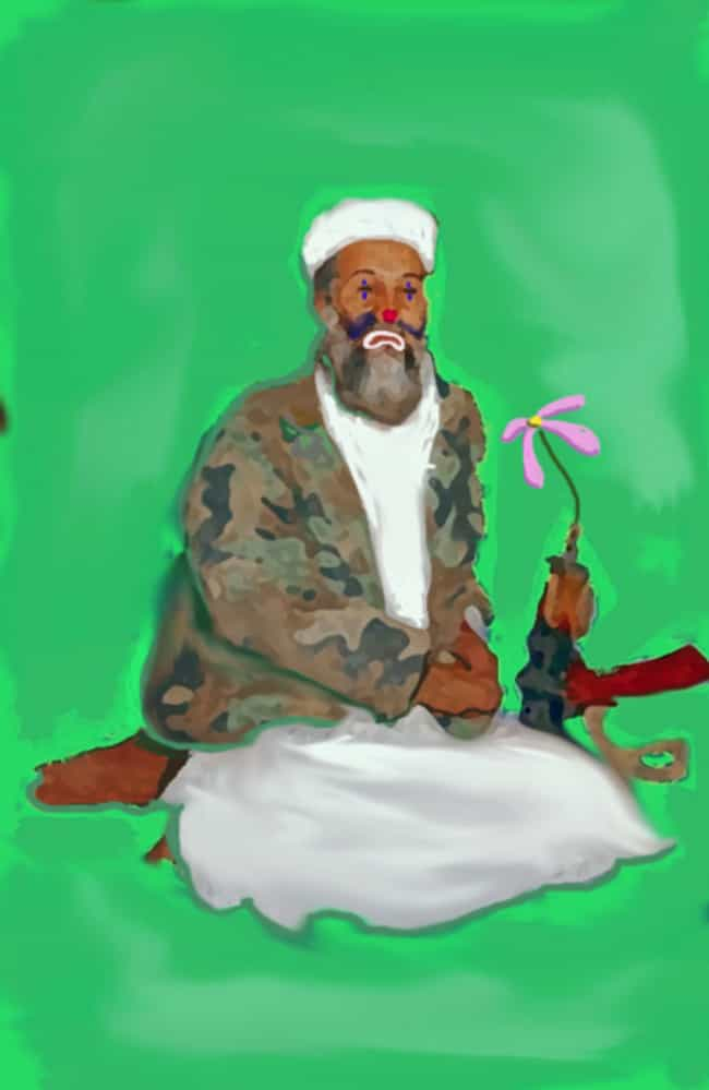 Osama bin Laden is listed (or ranked) 6 on the list All 33 George W. Bush Original Paintings That Were Made Public