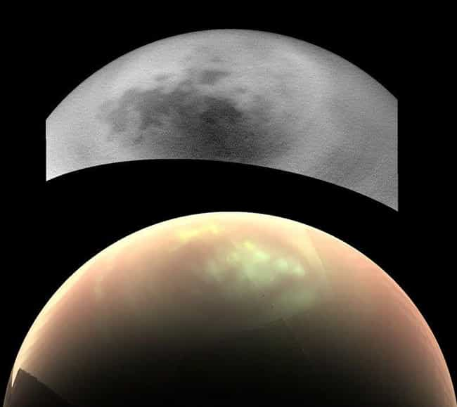 Titan's Mysterious Clouds is listed (or ranked) 4 on the list The 16 Most Gorgeous Pictures Cassini Took Of Saturn Before Dying In Her Atmosphere