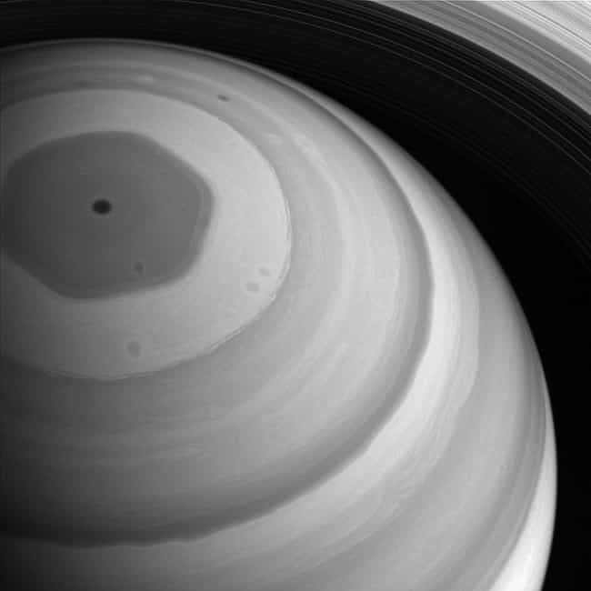 A View From The Top is listed (or ranked) 4 on the list The 16 Most Gorgeous Pictures Cassini Took Of Saturn Before Dying In Her Atmosphere