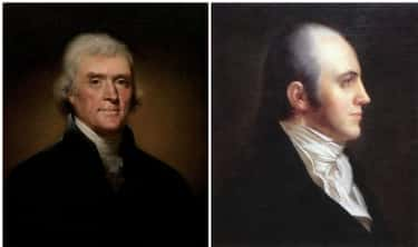 Thomas Jefferson And Aaron Bur is listed (or ranked) 1 on the list 11 President/Vice President Pairs Who Didn't Get Along Too Well